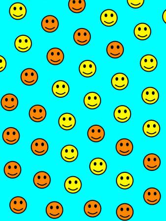 Messenger illustration. Beautiful pattern. Folk composed of funny moods.