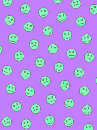 Communication decoration. Simple template. Company comprising amusing smileys. Imagens