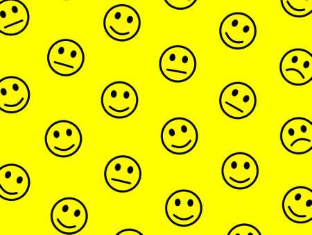 Messenger concept. Flat pattern. Folk containing smart moods. Imagens