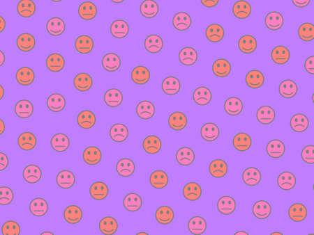 Life illustration. Simple pattern. Community including funny spirits.