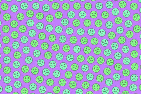 Web decoration. Geometric pattern. Fellowship containing comic spirits.