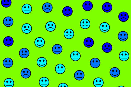 Internet illustration. Chaotic pattern. Gathering including funny smileys.