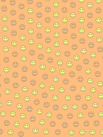 Interplay design. High definition pattern. Group composed of random smileys. Banco de Imagens