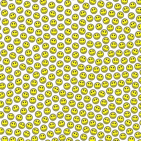 Messenger illustration. Irregular pattern. Institution including comic smileys. Imagens - 128410449