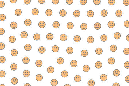 Messenger backdrop. Creative template. Mob containing funny feelings.