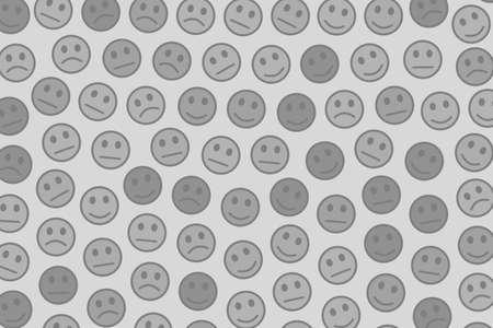 Cooperation illustration. Geometric template. Folk composed of comic moods.