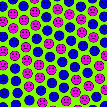 Internet illustration. High definition pattern. Group based on random smileys. Imagens