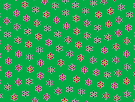 Geometric breakthrough containing many aster. Family decoration.