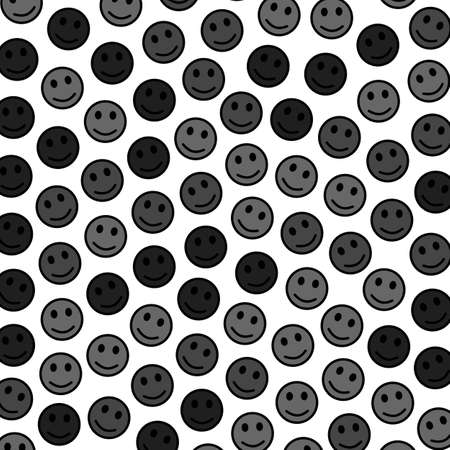 Society theme. Flat pattern. Gathering comprising random smileys. Imagens - 128762578