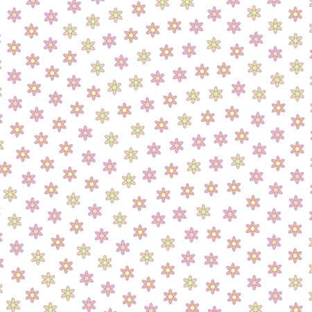 High definition mosaic with many leucanthemum. Modern  illustration. Imagens