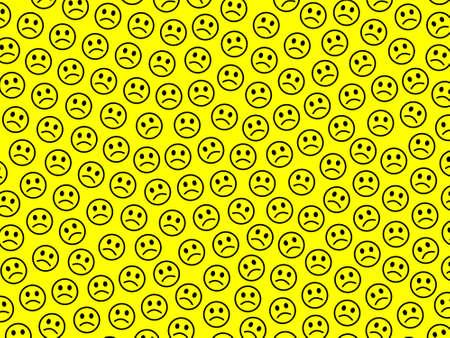 Internet theme. Simple texture. Gang comprising amusing shapes.