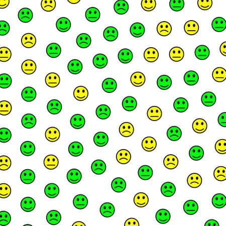 Messenger illustration. High definition pattern. Gang including comic faces.