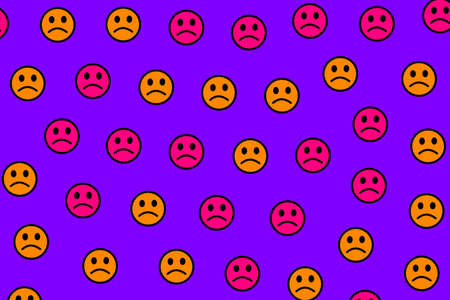 Party illustration. Simple texture. Mob containing amusing smileys.