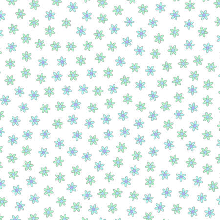 Geometric glade and random chrysanthemum. Dearness concept.