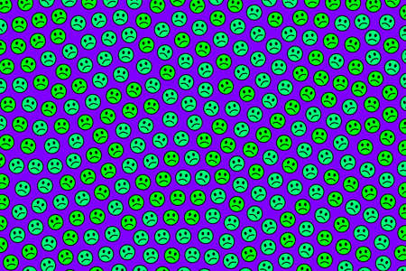 Internet decoration. Abstract pattern. Fellowship composed of many faces.