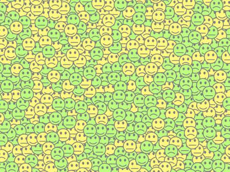 Net theme. Beautiful pattern. Institute containing random smileys.