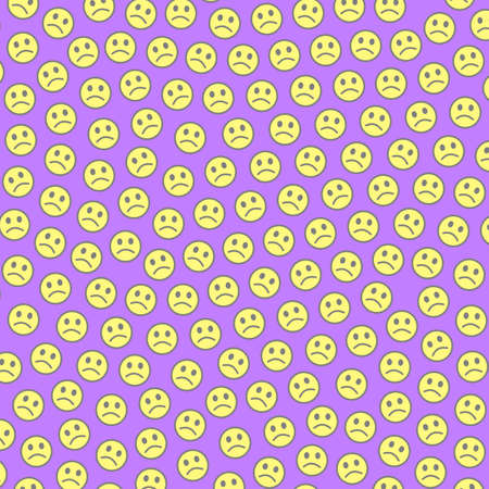 Interplay illustration. Beautiful texture. Association composed of funny smileys.