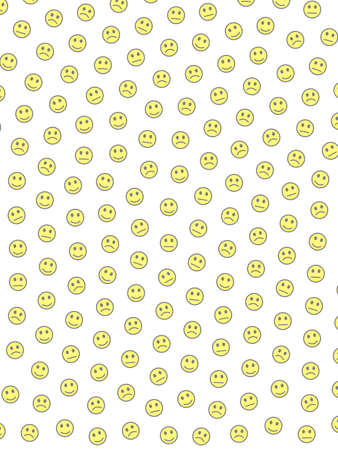 Entertainment illustration. Geometric texture. Message with funny emotions.
