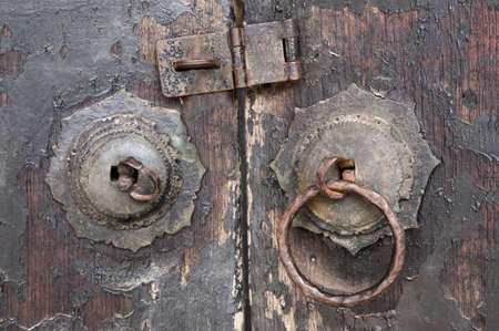 vow: The ancient Chinese art vow wooden door. Stock Photo