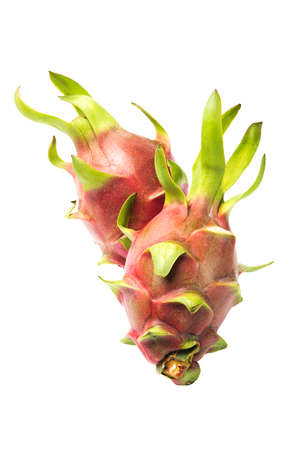 plantae: Dragon fruit on white background