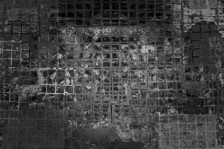 mess: Background cracked tiles, dirty mess