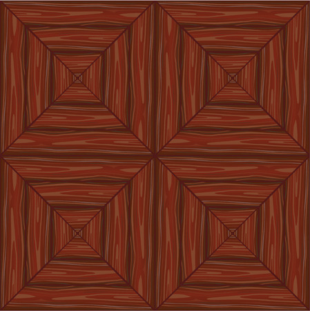 seamless background a mahogany wooden parquet floor Vector