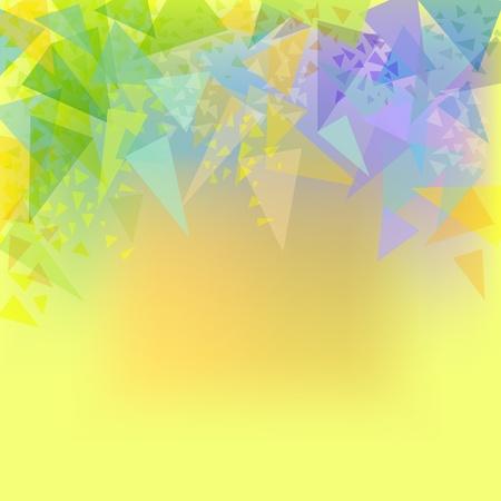 papel tapiz turquesa: Fondo abstracto de color amarillo con verde, azul, turquesa, naranja triángulos Vectores