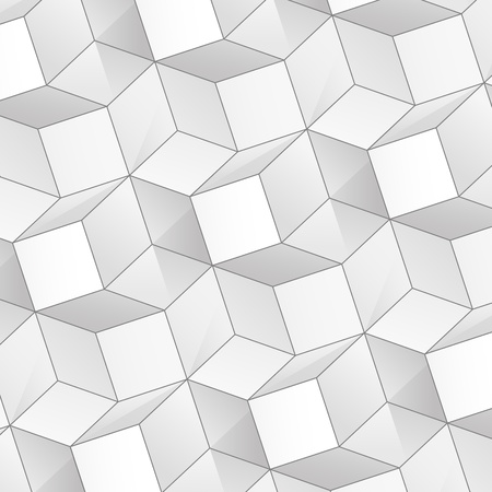 abstract background with volume connected white cubes Vector
