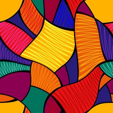 抽象的なシームレスな鮮やかなモザイク パターン ベクトル
