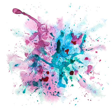 Vector Multicolored Grunge Background With Watercolor Splash Vector