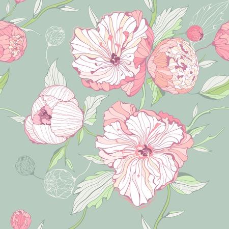 pastel colored: pastel colored background with gentle pink peony flowers