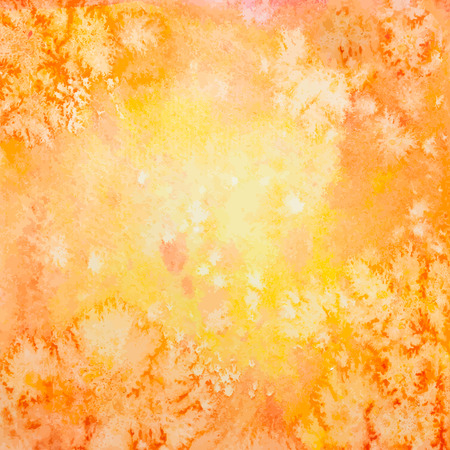 degraded: Vector Hand Drawn Square Autumn Orange Watercolor Grunge Background Illustration