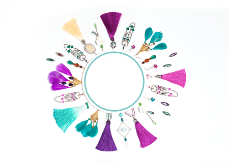 Circle Composition With Handmade Bijouterie