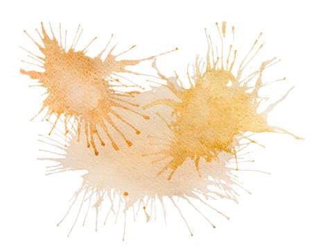 pictorial art: Beige watercolor splash stain