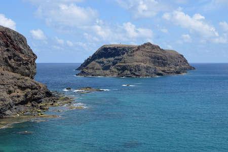 Rocky coast of the island of Porto Santo