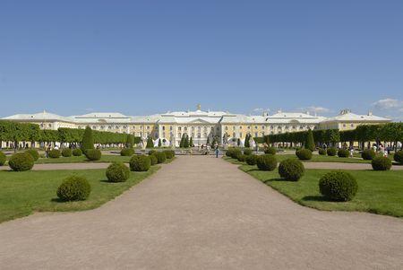 peterhof:  Peterhof gardens and palace in St. Petersburg, Russia