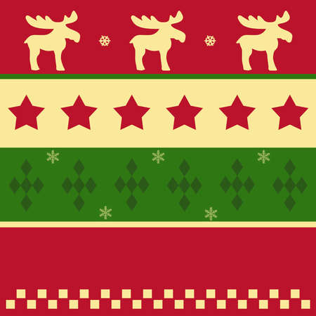 Colorful christmas pattern in green, red and yellow