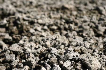Texture of granite grey rubble - depth of field