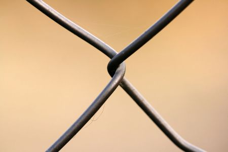Close-up of wire netting