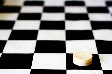 Black and white draughs or checkers(board game) - depth of field