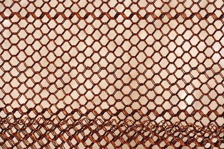 checkerplate: Texture of rusty chainlink fence Stock Photo