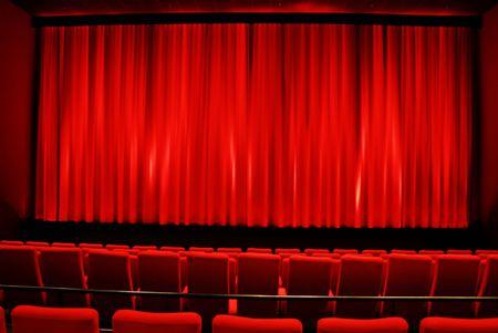 Cinema - red interior Stock Photo
