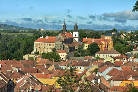 Castle and St. Basils Cathedral. Prokop, Trebic Editorial