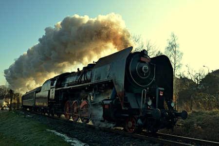 Historic locomotive Nobleman Editorial
