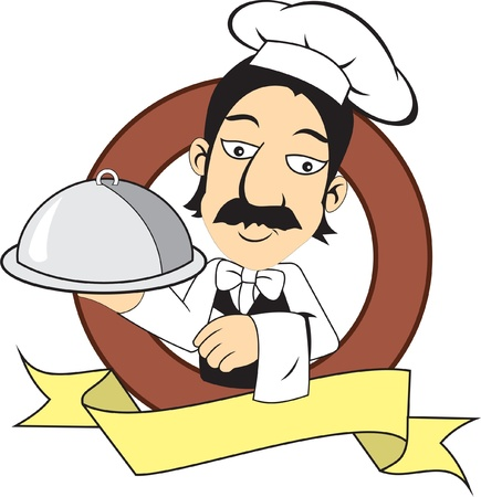 butler: cocinero de restaurant Illustration