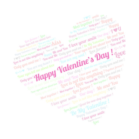 Heart on valentine s day talking about love  Vector illustration  Vector