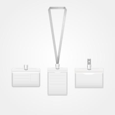 Three identification cards Vector illustration