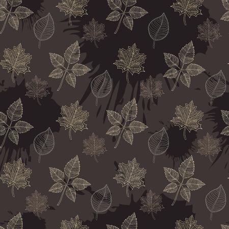 hojas de oto�o cayendo: Patr�n de oto�o transparente: extracto de la hoja, ca�da de las hojas, defoliaci�n, hojas de oto�o, las hojas que caen Vectores