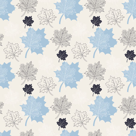defoliation: Seamless Autumn pattern:abstract blue leaf,leaf fall,defoliation,autumn leaves,falling leaves