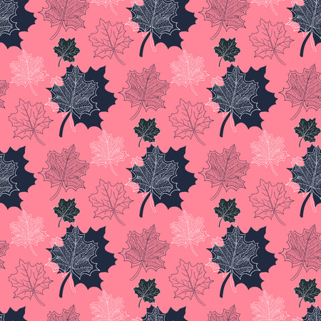 defoliation: Seamless Autumn pattern:abstract  leaf on a pink background,leaf fall,defoliation,autumn leaves,falling leaves